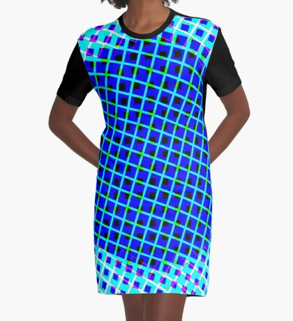 Blue Power Graphic T-Shirt Dress