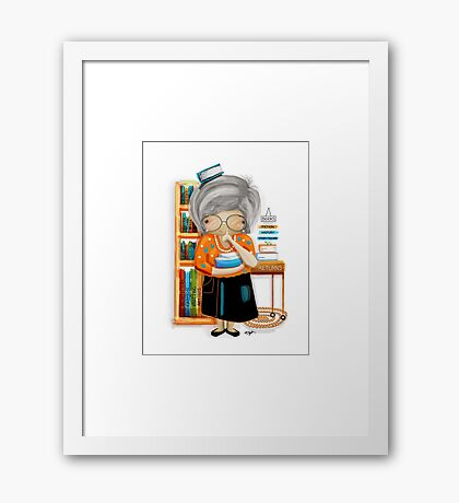 The Little Librarian Framed Print