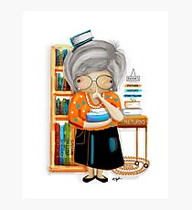 The Little Librarian Photographic Print