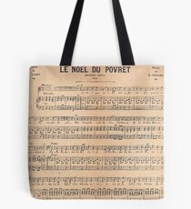 Vintage french classical music sheet paper  Tote Bag