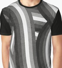Black White and Gray Rainbow Stripes Pattern Graphic T-Shirt