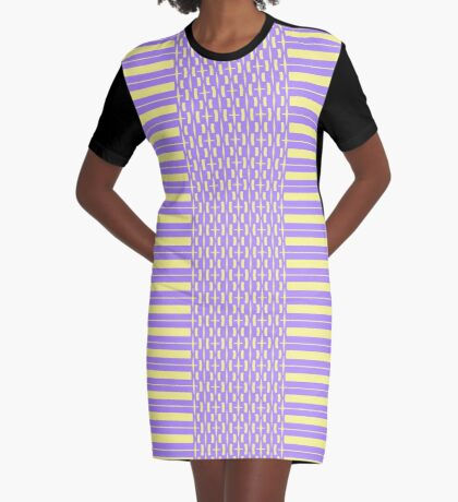 Thick And Thin Lines Graphic T-Shirt Dress
