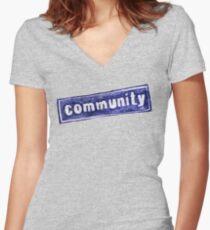 Community Logo Women's Fitted V-Neck T-Shirt