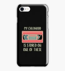 My Childhood Is Stored On One Of These - Retro, Retro Technology, Retro Life, Classic iPhone Case/Skin