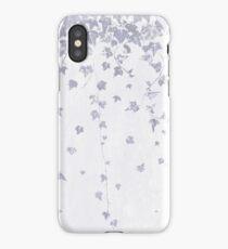 Pretty Soft Purple Trailing Ivy Leaf Print iPhone Case