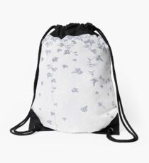 Pretty Soft Purple Trailing Ivy Leaf Print Drawstring Bag