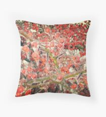 Icy Tree Throw Pillow
