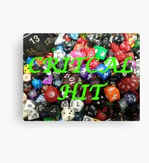 Critical Hit Dice Canvas Print
