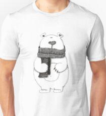 Cute cartoon bear with knitted scarf  T-Shirt
