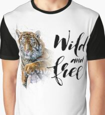 Tiger Wild and Free Graphic T-Shirt