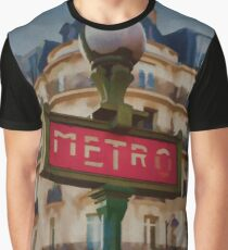 Paris Metro Graphic T-Shirt