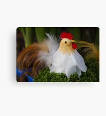 Easter hen Canvas Print