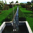 Water Feature - National Rose Garden - Tasmania by Marilyn Harris
