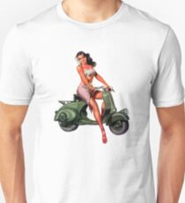 Scooter Pin-Up Girl  Unisex T-Shirt