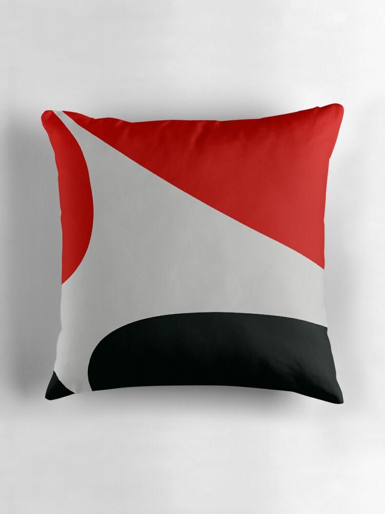"Black white red design"" Throw Pillows by RosiLorz"