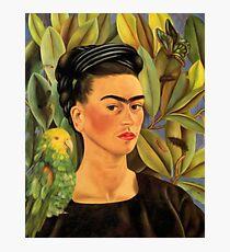 Frida Kahlo Self-portrait with Bonito Photographic Print