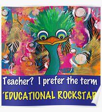 Educational Rockstar Poster