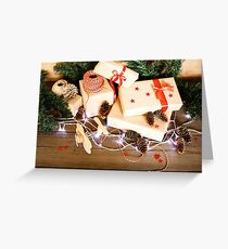 Christmas composition with presents Greeting Card