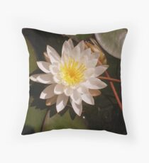 A Beautiful Lily Pad Water Flower Throw Pillow