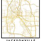 JACKSONVILLE FLORIDA STREET MAP ART by deificusArt
