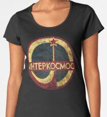 Camiseta premium de cuello ancho CCCP Interkosmos V02