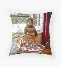 """""""Me and My Doll"""" Throw Pillow"""