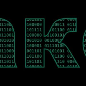 Russian Hacker - Green Cyrillic Characters Design by geeksta