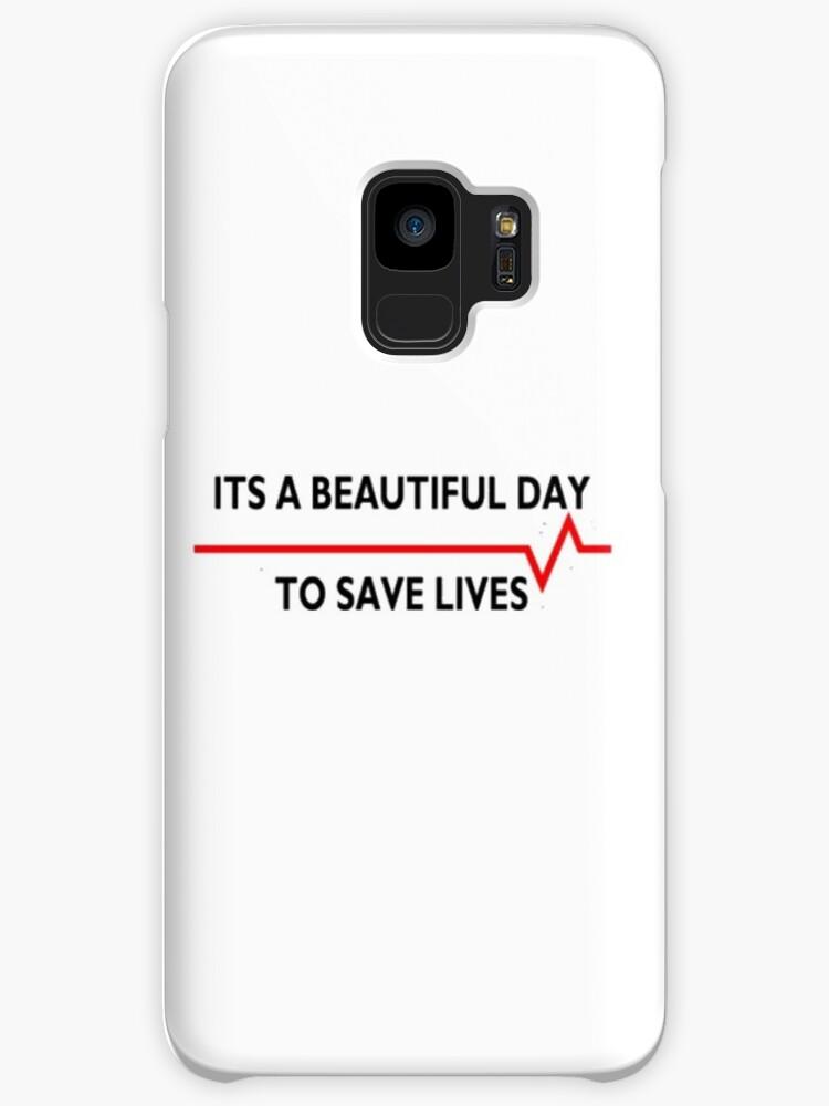 Fundas y vinilos para Samsung Galaxy «Hermoso día para salvar vidas ...