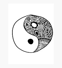 Hippie Yin-Yang Design Photographic Print
