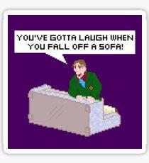 You've gotta laugh when you fall off a sofa! Sticker