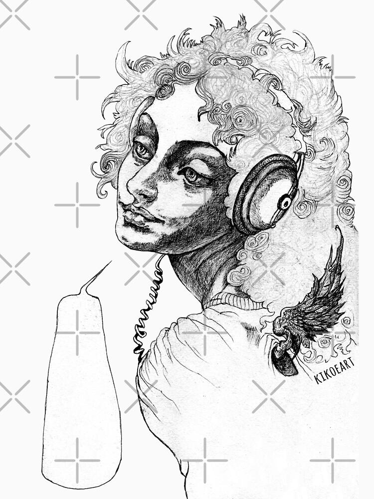 Archangel Uriel Likes Rock by kikoeart