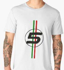 sebastian vettel #5 Italian stripes Men's Premium T-Shirt