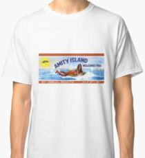 Amity Island Welcomes You : Inspired by Jaws Classic T-Shirt