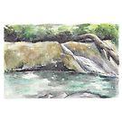 Waterfall by Yana Art