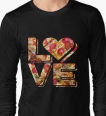 I Love Heart Pizza Yummy Pepperoni Cheese Bread Long Sleeve T-Shirt