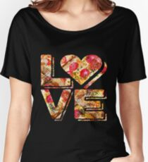 I Love Heart Pizza Yummy Pepperoni Cheese Bread Relaxed Fit T-Shirt