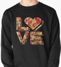 I Love Heart Pizza Yummy Pepperoni Cheese Bread Pullover Sweatshirt