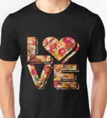 I Love Heart Pizza Yummy Pepperoni Cheese Bread Unisex T-Shirt