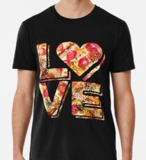 I Love Heart Pizza Yummy Pepperoni Cheese Bread Premium T-Shirt