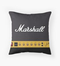 Retro Amp Amplifier  Throw Pillow