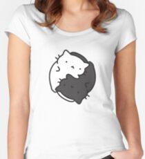 Marshmallow Bean and Peppercorn are Balanced Women's Fitted Scoop T-Shirt