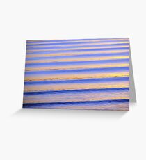 Blue & Orange Sunset Ripples Greeting Card