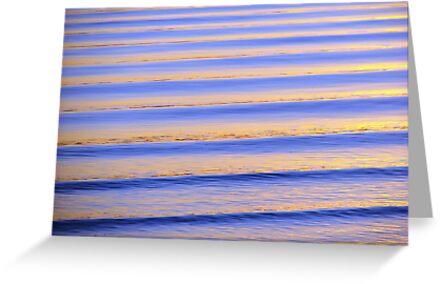 Blue & Orange Sunset Ripples by Martice