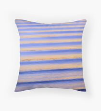 Blue & Orange Sunset Ripples Throw Pillow
