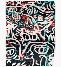Street Art Graffiti Muster Tinte und Posca Poster