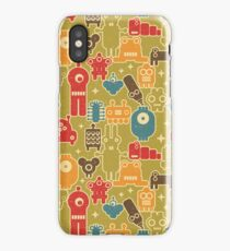 Robots on green iPhone Case/Skin