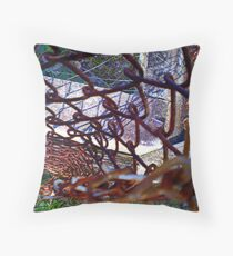 Rusted Chain link Throw Pillow