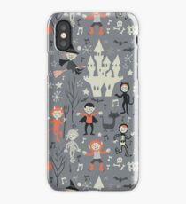 Vintage love shack monster halloween party iPhone Case/Skin