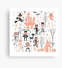 Vintage love shack monster halloween party Canvas Print