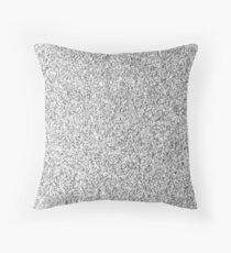 Beautiful Silver glitter sparkles Throw Pillow